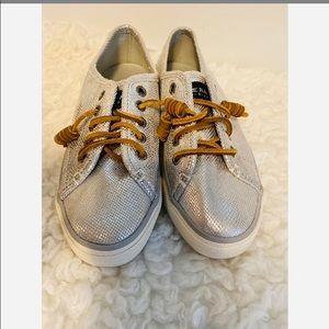 Sperry Sea-coast Slip on Sneaker Metallic Snake